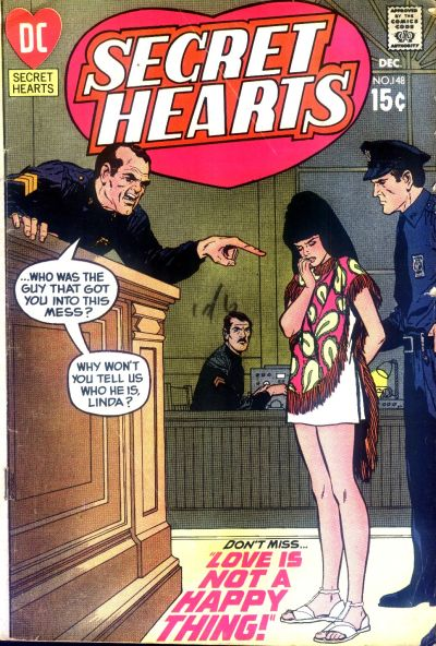 Cover for Secret Hearts (DC, 1949 series) #148