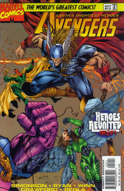 Cover for Avengers (Marvel, 1996 series) #12 [Direct Edition]