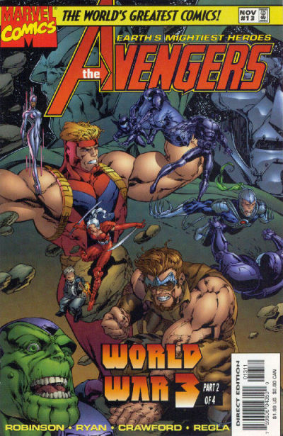 Cover for Avengers (Marvel, 1996 series) #13 [Direct Edition]