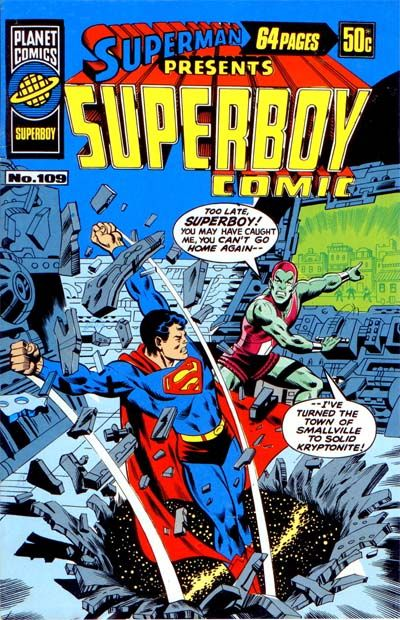 Cover for Superman Presents Superboy Comic (K. G. Murray, 1976 ? series) #109