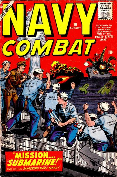 Cover for Navy Combat (Marvel, 1955 series) #19
