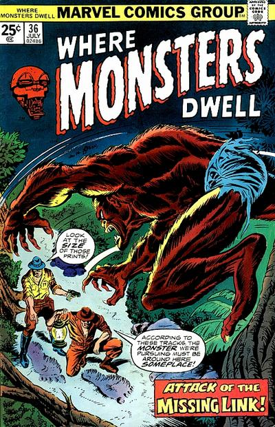 Cover for Where Monsters Dwell (Marvel, 1970 series) #36