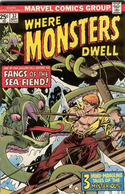 Cover for Where Monsters Dwell (Marvel, 1970 series) #37