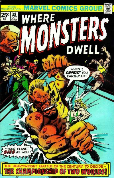 Cover for Where Monsters Dwell (Marvel, 1970 series) #38