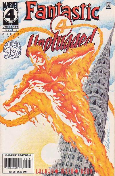 Cover for Fantastic Four Unplugged (Marvel, 1995 series) #4
