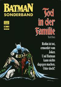 Cover Thumbnail for Batman Sonderband (Norbert Hethke Verlag, 1989 series) #12 - Tod in der Familie - Teil Drei