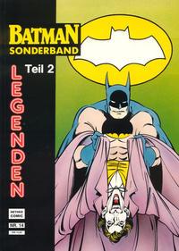 Cover Thumbnail for Batman Sonderband (Norbert Hethke Verlag, 1989 series) #14 - Legenden - Teil 2