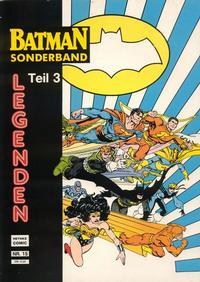 Cover Thumbnail for Batman Sonderband (Norbert Hethke Verlag, 1989 series) #15 - Legenden - Teil 3