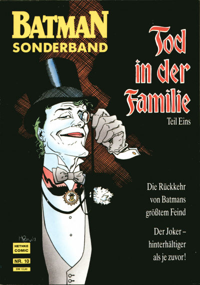 Cover for Batman Sonderband (Norbert Hethke Verlag, 1989 series) #10 - Tod in der Familie - Teil Eins