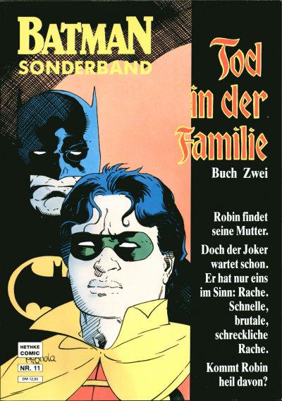 Cover for Batman Sonderband (Norbert Hethke Verlag, 1989 series) #11 - Tod in der Familie - Buch zwei
