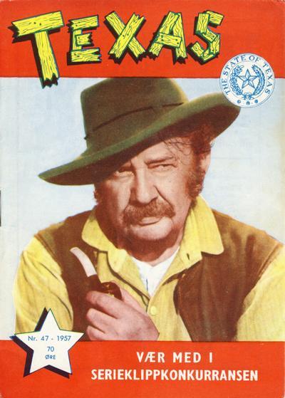Cover for Texas (Serieforlaget / Se-Bladene / Stabenfeldt, 1953 series) #47/1957