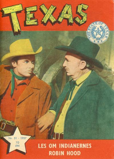 Cover for Texas (Serieforlaget / Se-Bladene / Stabenfeldt, 1953 series) #51/1957