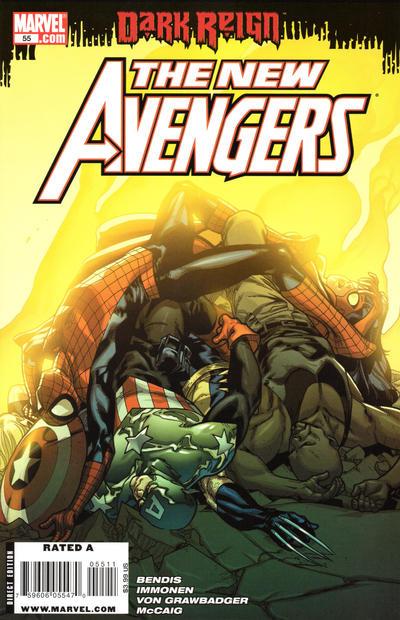 Cover for New Avengers (Marvel, 2005 series) #55