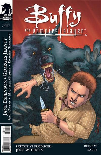 Cover for Buffy the Vampire Slayer Season Eight (Dark Horse, 2007 series) #27 [Alternate Cover - Georges Jeanty & Michelle Madsen]