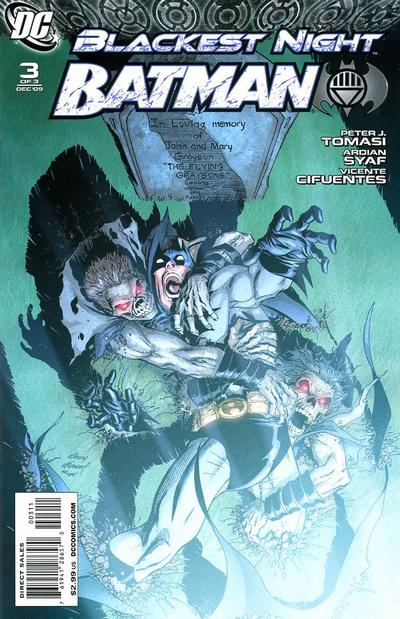 Cover for Blackest Night: Batman (DC, 2009 series) #3 [Cover B]