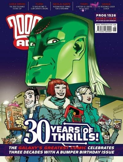 Cover for 2000 AD (Rebellion, 2001 series) #1526