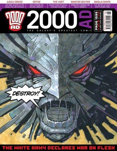 Cover for 2000 AD (Rebellion, 2001 series) #1595