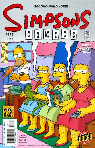 Cover for Simpsons Comics (Bongo, 1993 series) #157