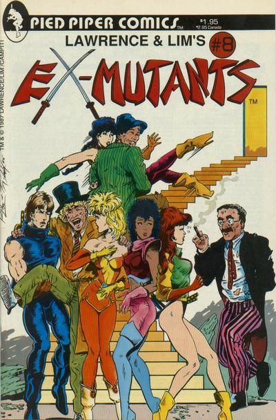 Cover for Lawrence & Lim's Ex-Mutants (Pied Piper Comics, 1987 series) #8