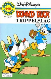 Cover Thumbnail for Donald Pocket (Hjemmet / Egmont, 1968 series) #116 - Donald Duck Trippelslag [1. opplag]