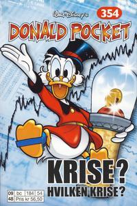 Cover Thumbnail for Donald Pocket (Hjemmet / Egmont, 1968 series) #354 - Krise? Hvilken krise? [1. opplag]