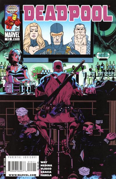Cover for Deadpool (Marvel, 2008 series) #15 [2nd Print Variant]