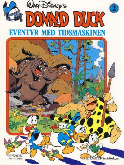 Cover for Donald Duck Eventyr med tidsmaskinen (Hjemmet / Egmont, 1987 series) #2 [Reutsendelse bc-F 147 33]
