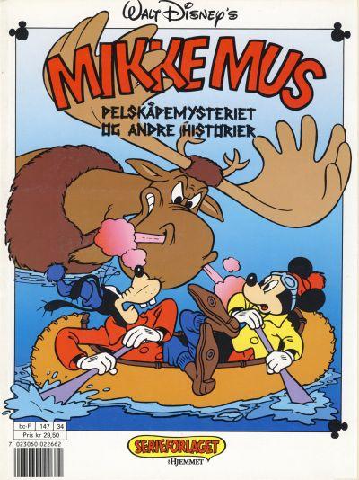 Cover for Mikke Mus Pelskåpemysteriet og andre historier [Mikke Mus Album] (Hjemmet / Egmont, 1990 series) #[nn]