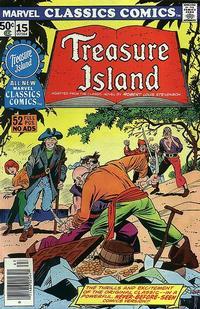 Cover for Marvel Classics Comics (Marvel, 1976 series) #15 - Treasure Island
