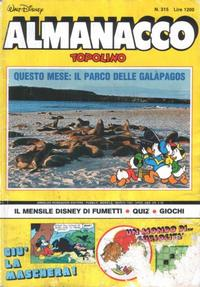 Cover Thumbnail for Almanacco Topolino (Arnoldo Mondadori Editore, 1957 series) #315