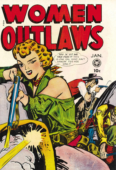 Cover for Women Outlaws (Fox, 1948 series) #4