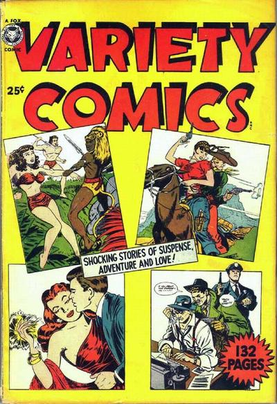 Cover for Variety Comics (Fox, 1950 series)