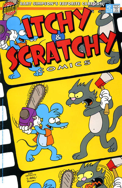 Cover for Itchy & Scratchy Comics (Bongo, 1993 series) #2