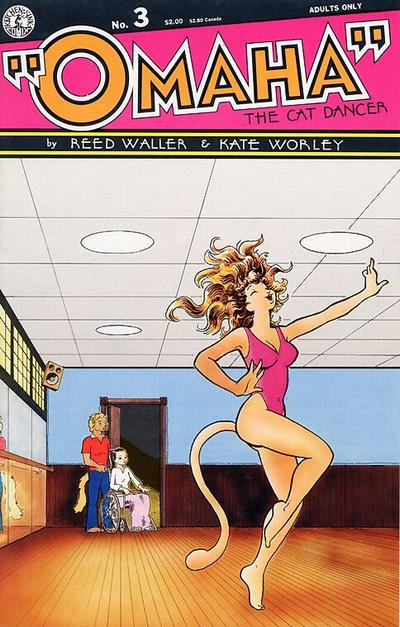 Cover for Omaha the Cat Dancer (Kitchen Sink Press, 1986 series) #3