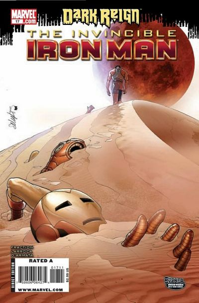 Cover for Invincible Iron Man (Marvel, 2008 series) #17 [Second Printing]