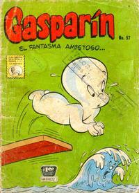 Cover for Gasparin (Editora de Periódicos La Prensa S.C.L., 1952 series) #57