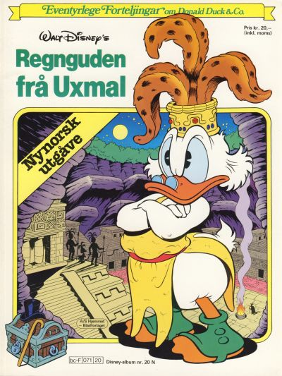 Cover for Disney-Album [Walt Disney's Beste Historier om Donald Duck & Co][Nynorsk utgåve] (Hjemmet / Egmont, 1984 series) #20 N