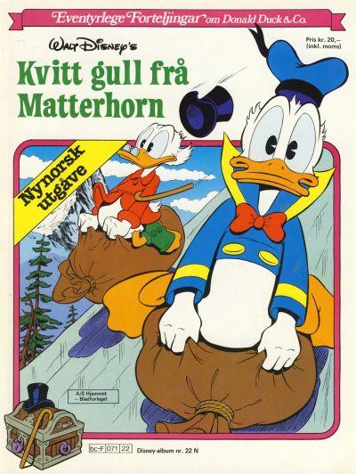 Cover for Disney-Album [Walt Disney's Beste Historier om Donald Duck & Co][Nynorsk utgåve] (Hjemmet / Egmont, 1984 series) #22 N
