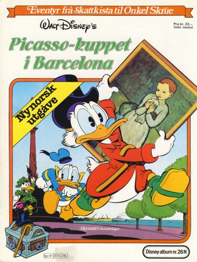 Cover for Disney-Album [Walt Disney's Beste Historier om Donald Duck & Co][Nynorsk utgåve] (Hjemmet / Egmont, 1984 series) #26 N