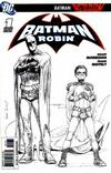 Cover for Batman and Robin (DC, 2009 series) #1 [Frank Quitely Variant Sketch Cover]