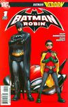 Cover for Batman and Robin (DC, 2009 series) #1 [2nd Printing - Red Background]
