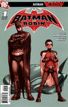 Cover for Batman and Robin (DC, 2009 series) #1 [3rd Printing - Grey Background]