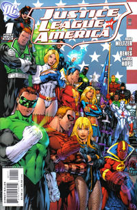 Cover Thumbnail for Justice League of America (DC, 2006 series) #1 [Ed Benes / Mariah Benes Cover - Left Side]