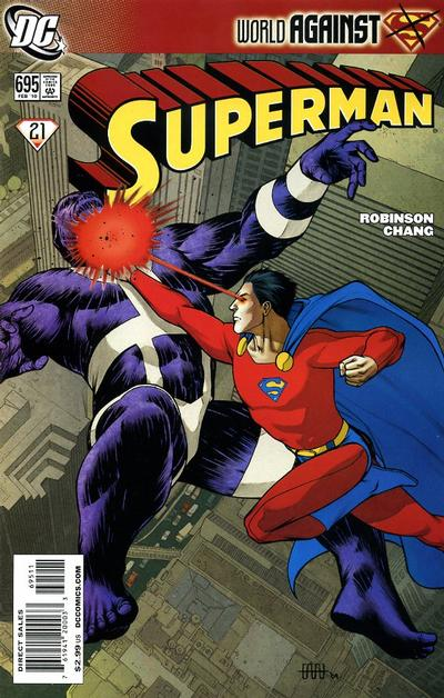 Cover for Superman (DC, 2006 series) #695
