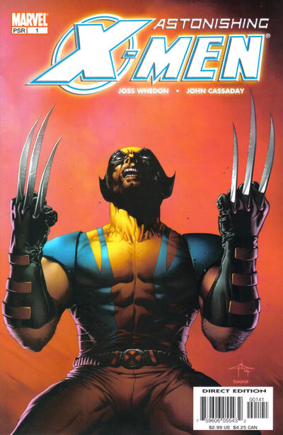 Cover for Astonishing X-Men (Marvel, 2004 series) #1 [Claws Cover]
