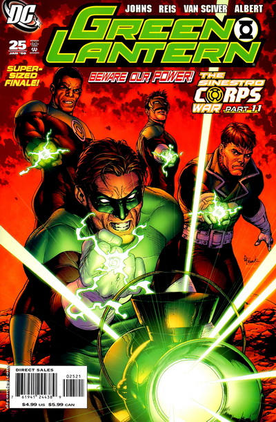 Cover for Green Lantern (DC, 2005 series) #25 [Direct Sales]