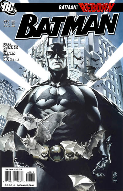 Cover for Batman (DC, 1940 series) #687 [Tony Daniel Variant Cover]