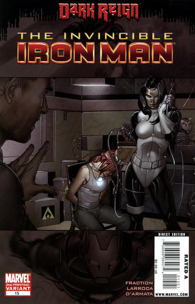 Cover for Invincible Iron Man (Marvel, 2008 series) #15 [Second Printing]