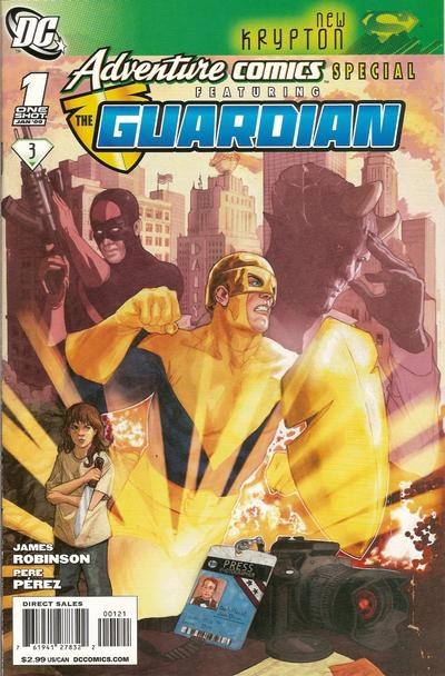 Cover for Adventure Comics Special Featuring the Guardian (DC, 2009 series) #1 [Direct]
