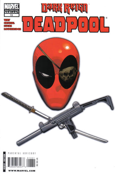 Cover for Deadpool (Marvel, 2008 series) #13 [Marvel 70th Anniversary Border]
